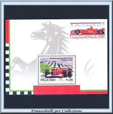 2001 Italia Repubblica Foglietto Ferrari Mondiale n. 33 Nuovo Integro **