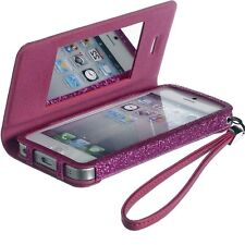 FUNDA AGENDA GLITTER APPLE IPHONE 5/5S, FUCHSIA