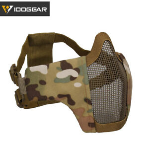 IDOGEAR PDW Half Face Protective MESH Mask Airsoft Field Military Paintball Camo