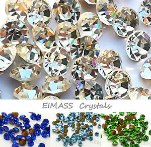 Point-back Crystals, EIMASS® Grade A Foiled Glass Chatons, Diamante, Diamond Gem