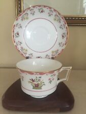 "Wedgwood Williamsburg "" BIANCA"" Tea cup Teacup Saucer Set Excellent! More Avail!"