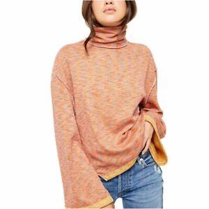 FREE PEOPLE NEW Women's Sunny Days Stretch Turtleneck, Mock Sweater Top TEDO