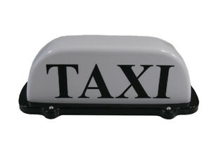 Taxi Roof Sign Aerodynamic Magnetic Taximeter Cab Top Lamp 12V White Light 30cm