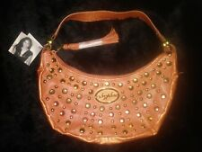 Authentic Baby Phat Brown Studded Suade - Large Handbag