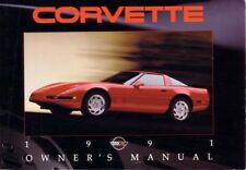 1991 Chevrolet Corvette Owners Manual User Guide
