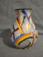 SMF Schramberg Gobelin 4 Vase handbemalt Höhe 15 cm