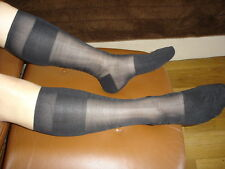 1 P mi bas nylon transparente socks sheer noir V09 T-42/45 pointe talon renforcé
