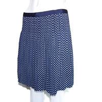 J. CREW Adorable Blue White Polka Dot Pleated Skirt size 6