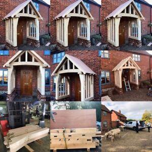Oak Porch, Doorway, Wooden porch, Entrance, Self build kit, porch, Oak Frame