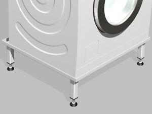 Waschmaschinen /Trockner Untergestell Podest Sockel Unterbau Gestell 12 cm hoch
