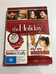 THE HOLIDAY/ LOVE ACTUALLY/ WIMBLEDON – DVD, 3-DISC BOX SET