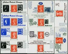 More details for gb machin promotion overprint panes boots type mint gb exhibitions 10 different