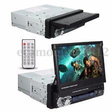 7'' Retractable 1 Din Car Auto Bluetooth Stereo MP3 MP4 MP5 Player FM Radio Aux