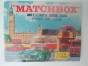 Matchbox Collector's Guide 1966 International Catalog USA ed new (EC)
