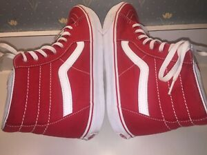 VANS Shoes RED SKATE Hightops Size 11 Men's MUST SEE GEM  BEAUTIES !!!