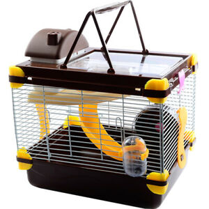 1 Tier Small Pet Hamster Cage Gerbil Mouse Degus Rat Castle Home House Fun Play