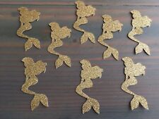 50 Gold Glitter Mermaid Confetti, Under The Sea, Baby Shower, Little Mermaid