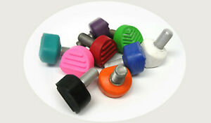 SET OF 2  PINK Sure Grip 5/8 SPEED SKATE TOE STOPS FREE SHIPPING