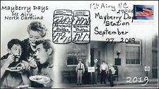 19-224, 2019, Mayberry Days, Pictorial Postmark, Event Cover, Mt Airy NC