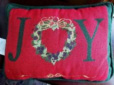 "CHRISTMAS:  Accent PILLOW  ""JOY"" Wreath    NEW!"