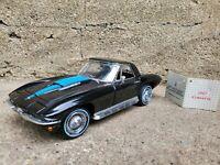 Franklin Mint 1967 Chevy Corvette Stingray L88 427 1:24 Scale Diecast Car Black