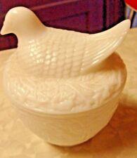 Avon Bird On Nest Milk White Glass Dish
