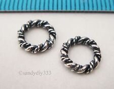 6x STERLING SILVER CLOSED TWIST JUMP RING 8mm European Chain Spacer Bead #2535