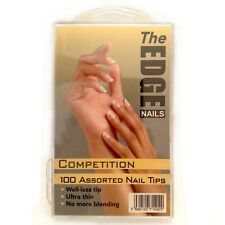 THE EDGE COMPETITION NATURAL WELL-LESS NAIL TIPS BOX OF 360, 100 OR REFIL PACKS