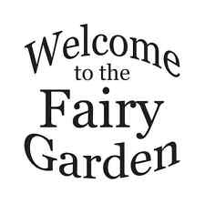 Fairy Garden STENCILS**Lot of 3** Paint your own Signs Crafts Scrapbook