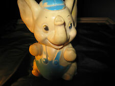 1950's Disney (?) Dumbo the Elephant Squeeze Toy by Sanitoy Inc NY