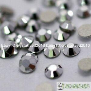 1440Pcs Metallic Silver Top Czech Crystal Flatback Rhinestone Nail Art No Hotfix