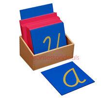 New Montessori Cursive Capital Case Sandpaper Letters