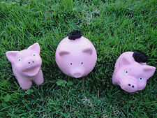3 Pig Squeeze Ball Therapuetic Office Work Stress Relief Tension Hand Exercise