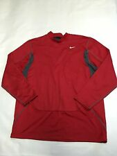 Mens NIKE PRO COMBAT Red Long Sleeve Fitted Sweatshirt Sz Sweatshirt Warm