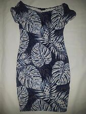 New Women's Stretch Leaf Dress Dresses by NEW LOOK in Blues size 10