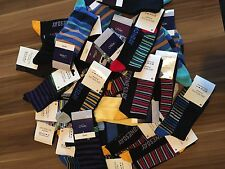 30 PAIRS MEN'S ADULTS BLACK COTTON SOCKS WITH MIX COLOURED UK SIZE 6-11  FBDVG