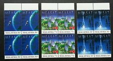 Malaysia East Asia Satellite -MEASAT 1996 Space Astronomy (stamp block 4) MNH