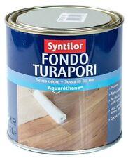 Syntilor Vernice Fondo Turapori 0,5 lt Aquarethane no odore essiccazione rapida