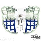 LTZ 400 KFX 400 DVX 400 Nerf Bars Pro Peg Alba Racing silver blue 206 T7 SL