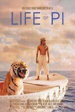 LIFE OF PI ANG LEE Suraj Sharma Irrfan Khan Original Double Sided Movie Poster