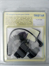 (PRL) TRISTAR TTL ADAPTER WITH SYNC CABLE CANON FLASH CAMERA UNIT TTL-RT-CAN NEW