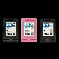 HP 60XL COMBO - 2 BLACK + TRI-COLOR - CC641WN CC644WN - New Ink Cartridges 60 XL