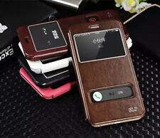 """Ultra Slim Flip Leather Stand View Window Case Cover For iPhone 6 4.7"""" Plus 5.5"""""""