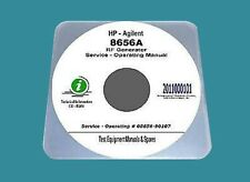 """HP 8656A Service Operating Manual with Native Schematic Diagrams 34"""" x 11"""" - CD"""