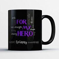 Awareness Coffee Mug - Epilepsy Awareness - Adorable 11 oz Black Ceramic Tea Cup