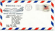 1980 Boeing 747 Space Shuttle Aircraft Algranti Murtry Scobee Haugen Horton USA