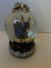 Rare 1997 San Francisco Music Box Majorie Sarnat Merlin Water Globe stars saturn