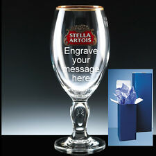 Personalised Stella Artois Branded Pint Glass + Gift Box Birthday
