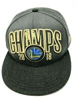 GOLDEN STATE WARRIORS 2018 NBA CHAMPS gray hat adjustable snapback cap 9Fifty