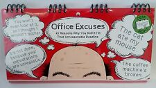 Office Excuses Flip Book Joke Gag Birthday Workplace Gift Funny Humour